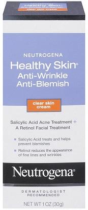 Neutrogena's Healthy Skin Anti-Wrinkle Anti-Blemish Clear Skin Cream