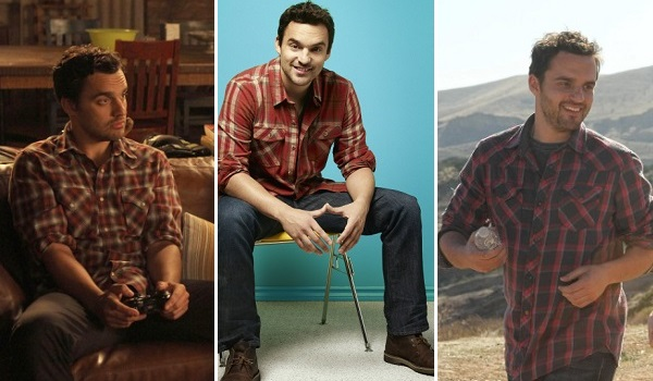 New Girl's Nick Miller in plaid