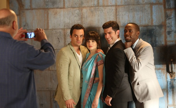 New Girl cast with Rob Reiner