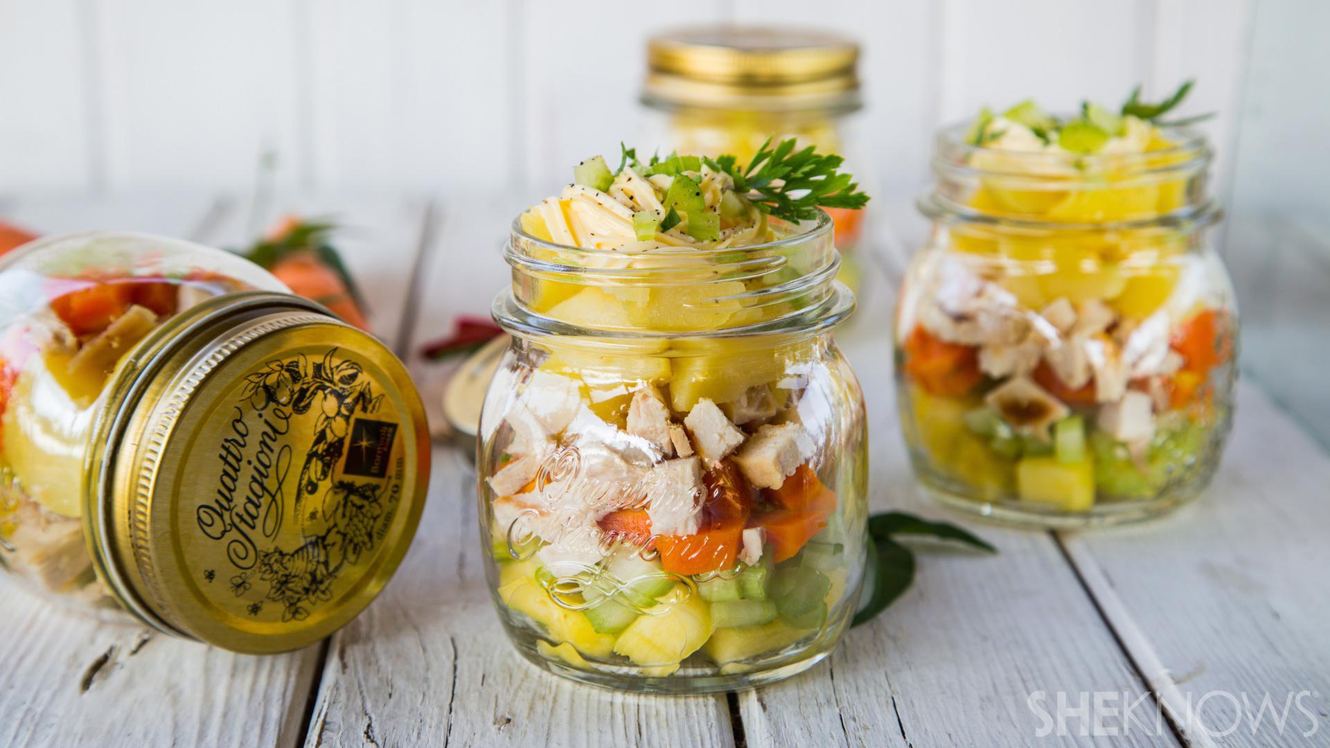 Pineapple potato chicken salad