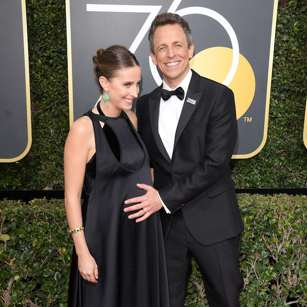 Pregnant Celebs Rocked the Golden Globes #TimesUp Movement: Alexi Ashe Meyers