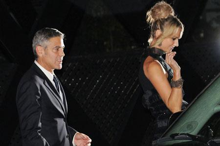 George Clooney and Stacy Keibler step