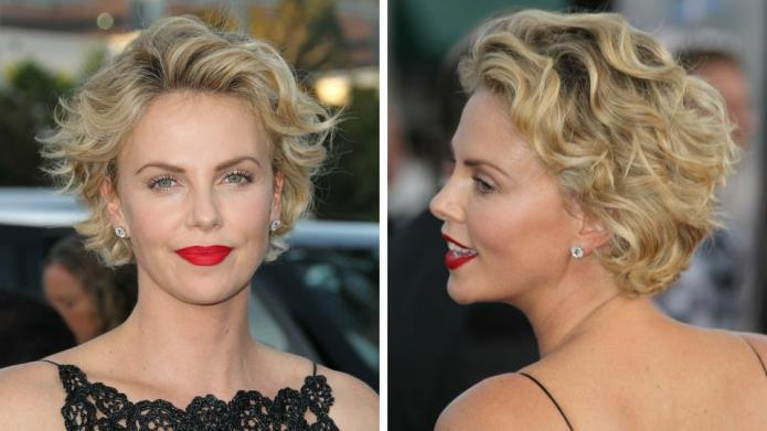 Charlize Theron's pixie cut is growing