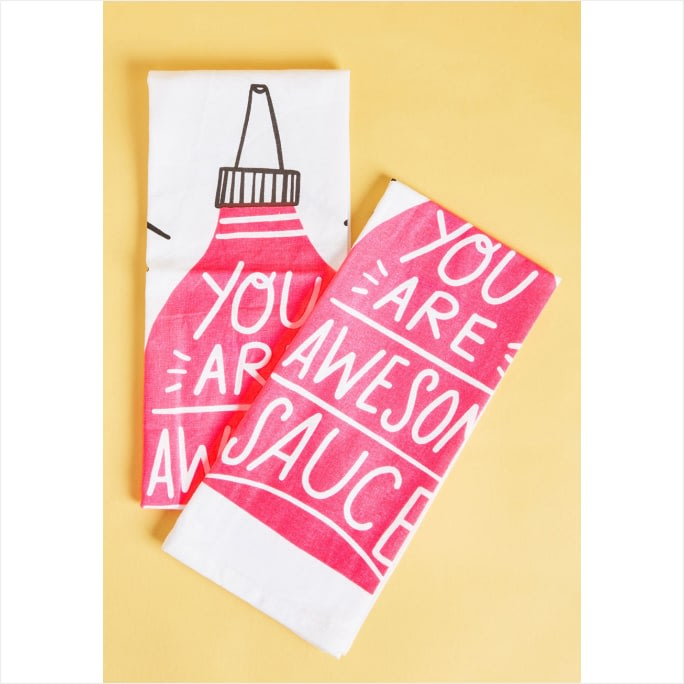 Affordable Dorm Decor 'You Are Awesome Sauce' Tea Towels