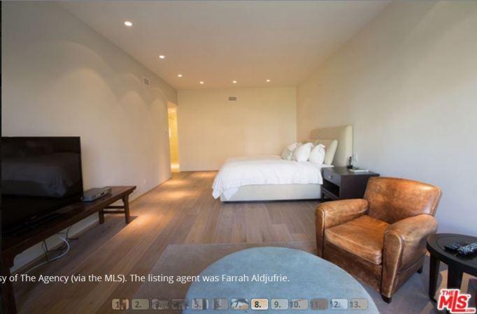 Kris Jenner master bedroom