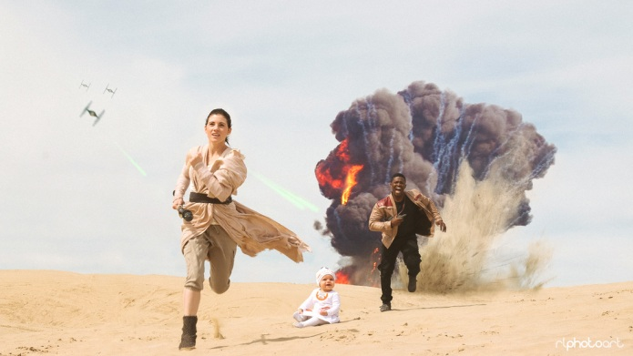 Couple's Star Wars engagement photos are