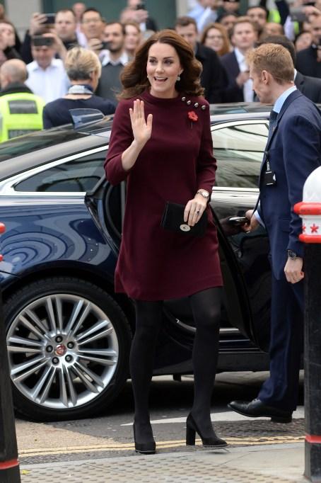 Kate Middleton burgundy maternity dress