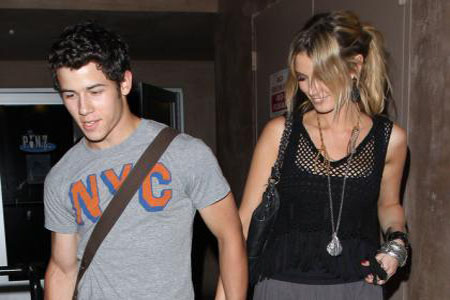 Nick Jonas steps out with Delta Goodrem