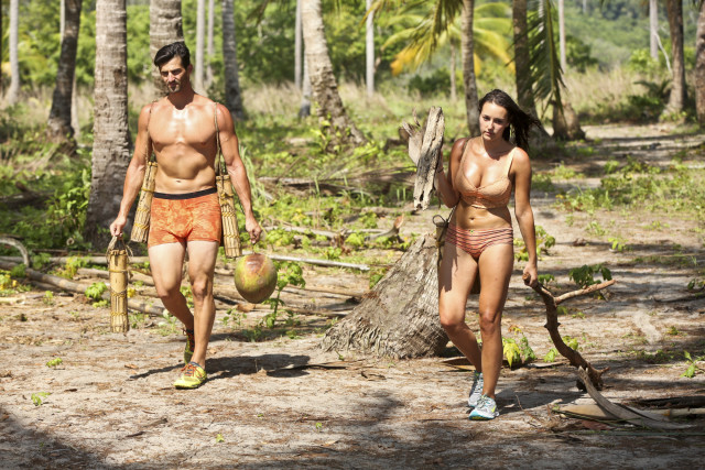Nick Maiorano with Anna Khait on Survivor: Kaoh Rong