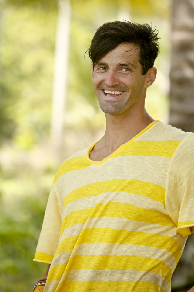 Nick Maiorano at Beauty beach on Survivor: Kaoh Rong