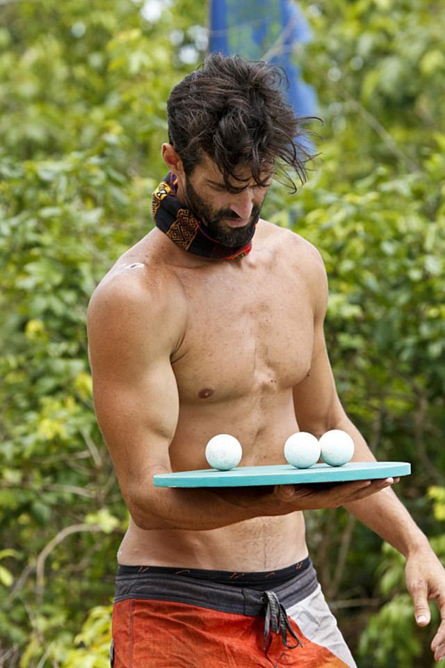 Nick Maiorano competes in Immunity challenge on Survivor: Kaoh Rong