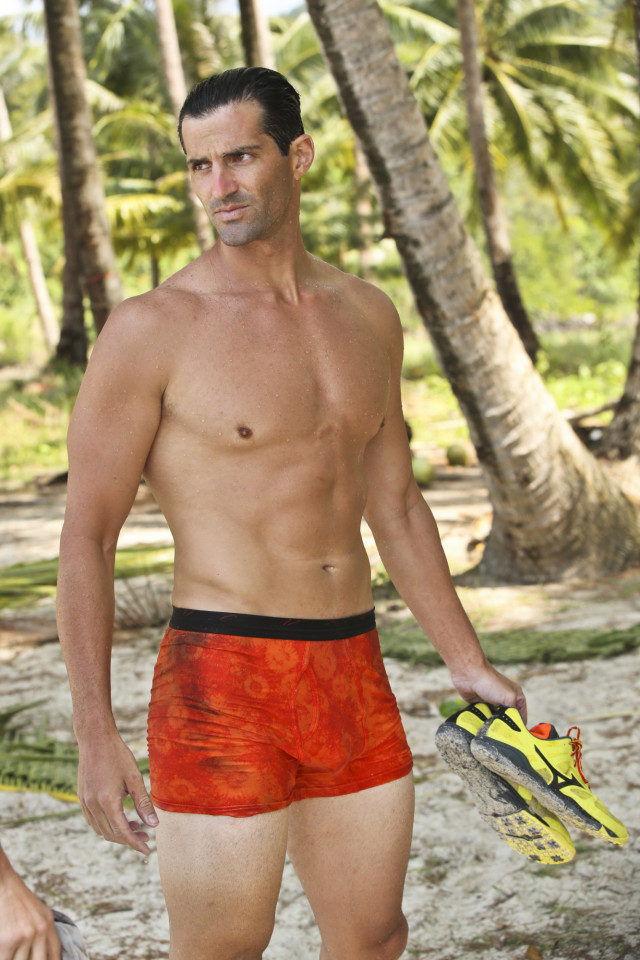 Nick Maiorano at the Beauty tribe beach on Survivor: Kaoh Rong
