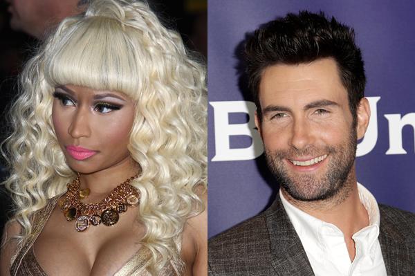 Nicki Minaj and Adam Levine