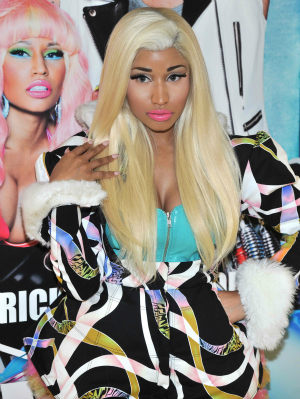 Nicki Minaj at a VIVA Glam launch