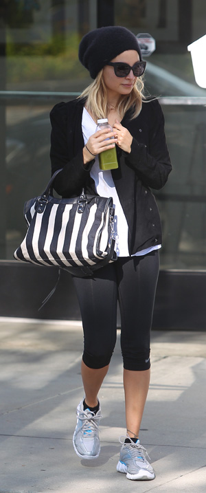 Nicole Richie in workout clothes