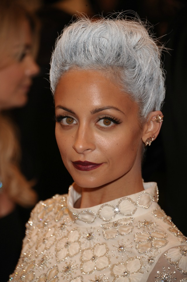 Nicole Richie at the Met Ball 2013 with grey hair