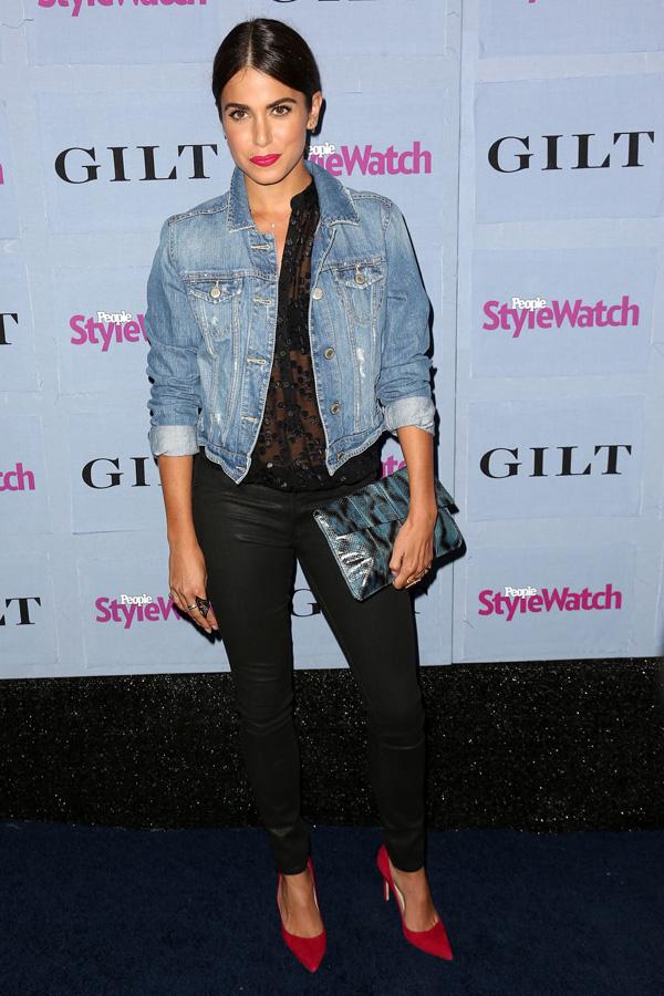 Nikki Reed wearing denim