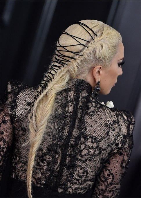 Lady Gaga Laced Hairstyle