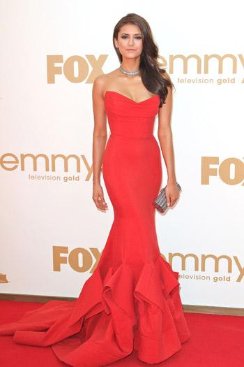 Nina Dobrev at the Emmys