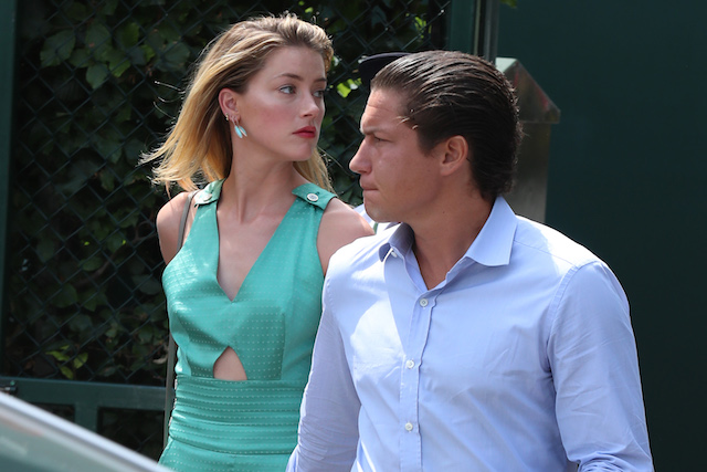 Vito Schnabel and Amber Heard seen arriving at Wimbledon Day 7