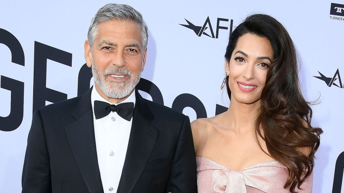 George Clooney, Amal Clooney arrives at