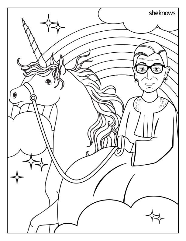 Printable Ruth Bader Ginsburg Coloring Book Sheknows