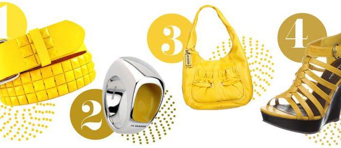 Yellow accessories for spring