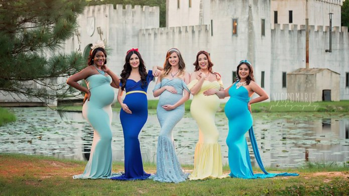 This Disney Princess Maternity Shoot Has
