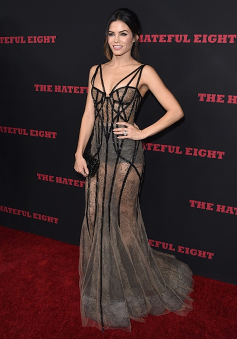 Jenna Dewan Tatum black tie dress