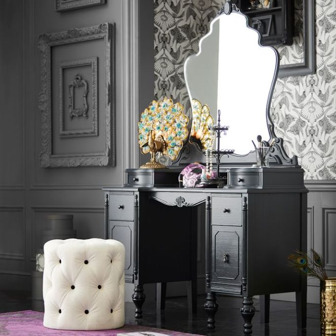 Anna Sui for PBteen: This vanity has a modern Victorian style