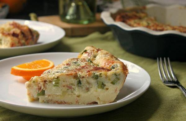 Bisquick quiche with asparagus, cheddar and