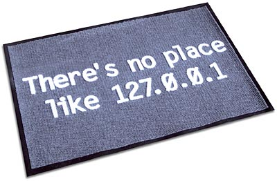 there's no place like 127,0.0.1 door mat