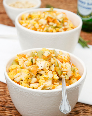 Cauliflower Salad with Homemade Vinaigrette