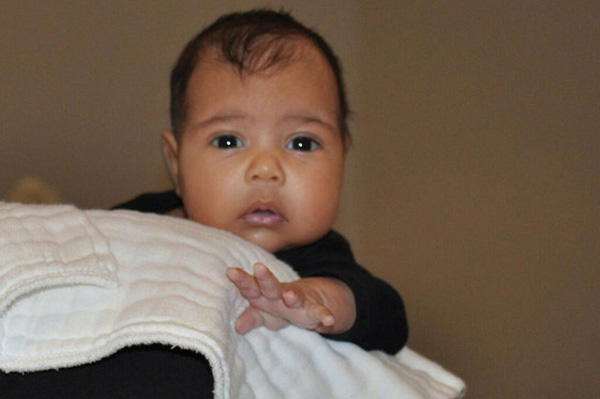 First photo of North West - Kim Kardashian and Kanye West's baby