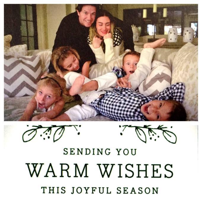 Mark Wahlberg's Christmas card