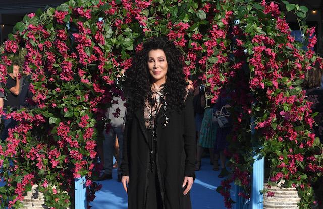 Cher attends the 'Mamma Mia! Here We Go Again' world premiere at the Eventim Apollo, Hammersmith