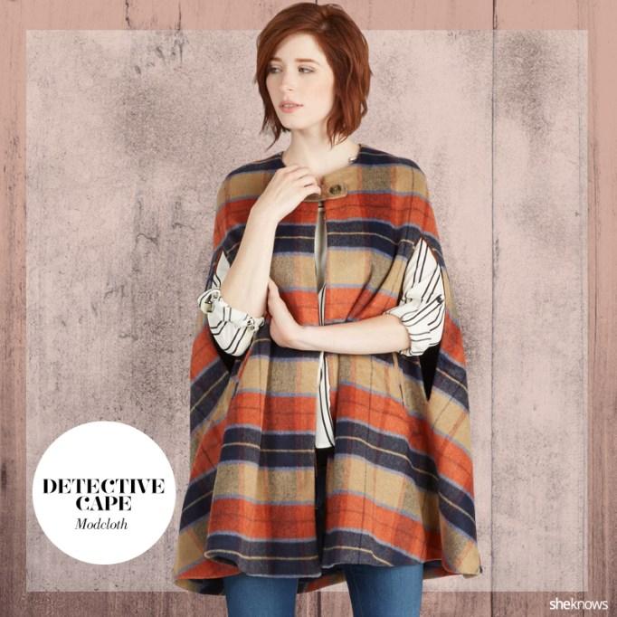 Cape coat for fall