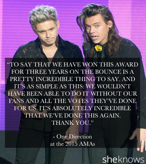 One Direction 2015 American Music Awards