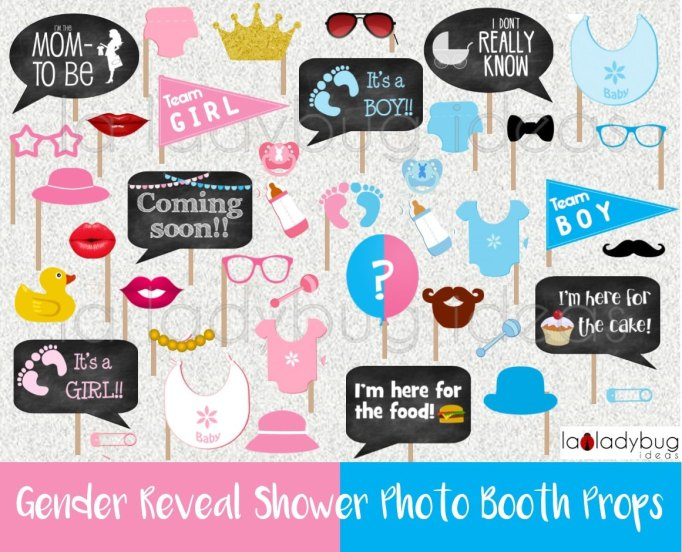 Gender Reveal Party Ideas You'll Actually Want to Copy: DIY Photo Booth Props