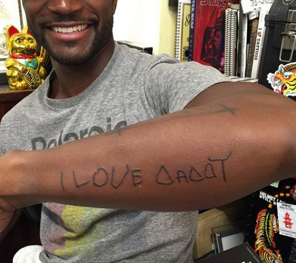 Taye Diggs tattoo