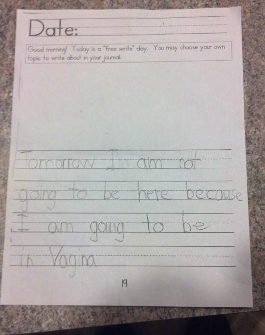 funny kid spelling error