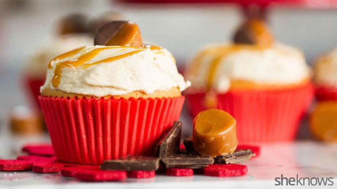 Salted caramel cupcakes are perfect for