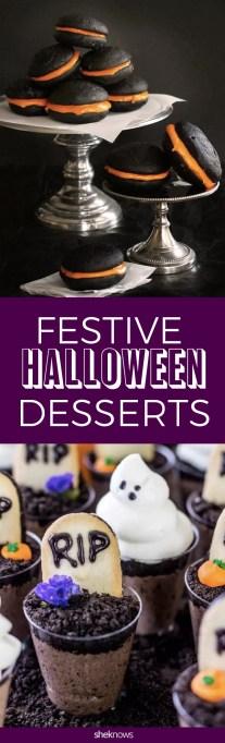 Festive halloween desserts