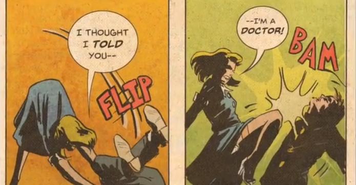 1940s comic book heroine is getting