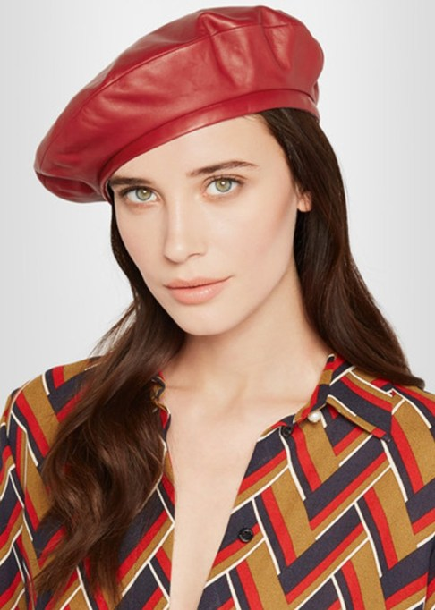 The Most-Pinned Summer Fashion Trends of 2017: Gucci Leather Beret | Summer Fashion Trends
