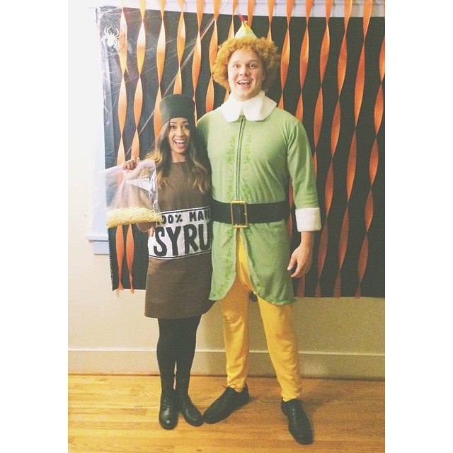 Buddy the Elf & maple syrup costume