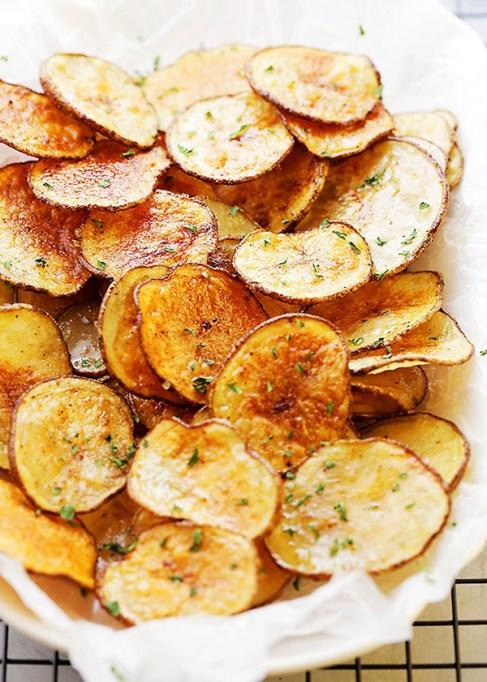 Chili-lime baked potato chips