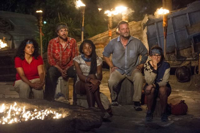 Nuku tribe at Tribal Council on Survivor: Game Changers