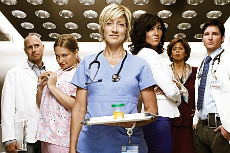 Edie Falco is Nurse Jackie, premiering March 22 on Showtime