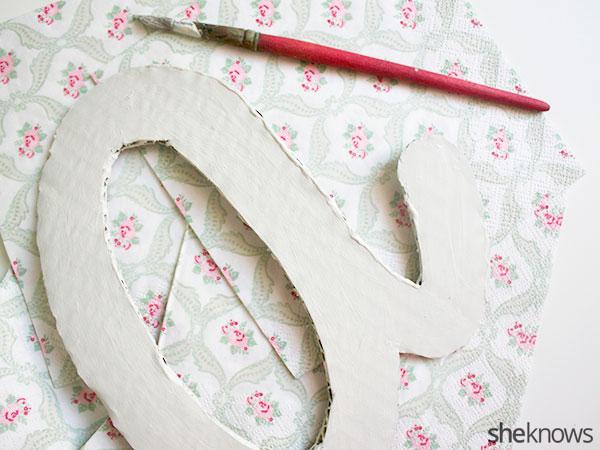 DIY nursery letter art: Step 4 paint letters